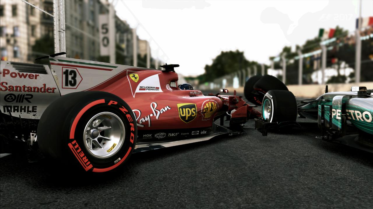 F1 2017: Unfall Ferrari Mercedes in Baku