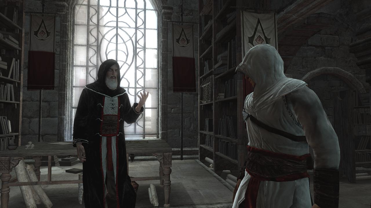 Altair und Al Mualim im Gespräch