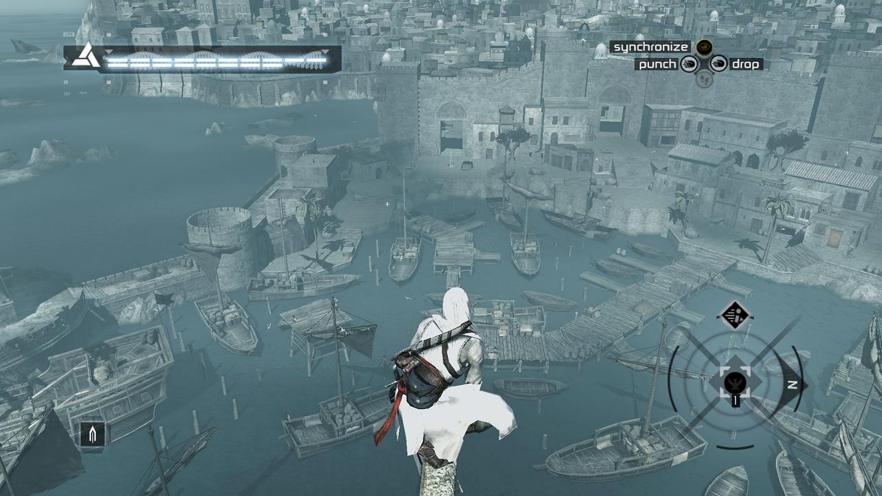 Altair auf einem Aussichtsturm am Hafen
