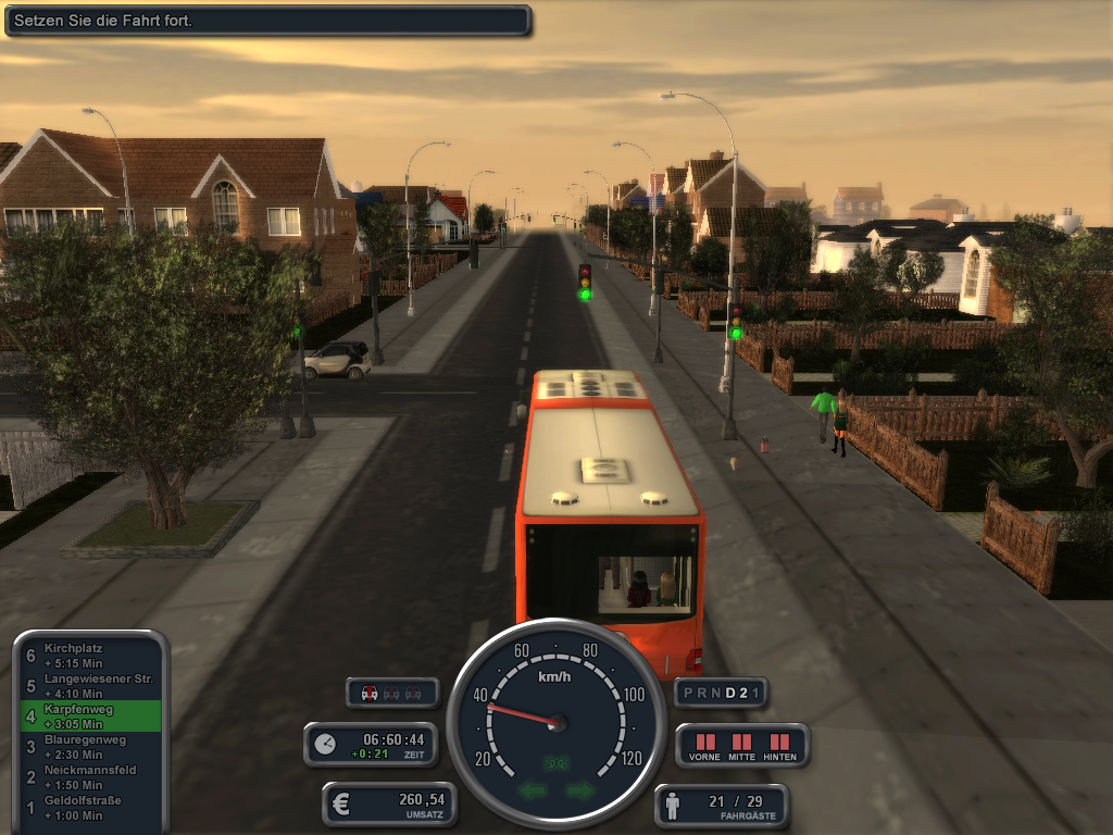 Bus in Verfolgerkamera