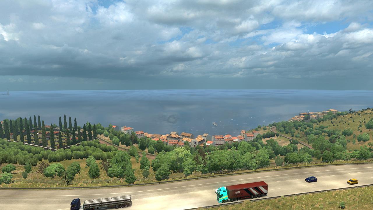 Kleines Dorf in der Lombardei kurz vor Villa San Giovanni