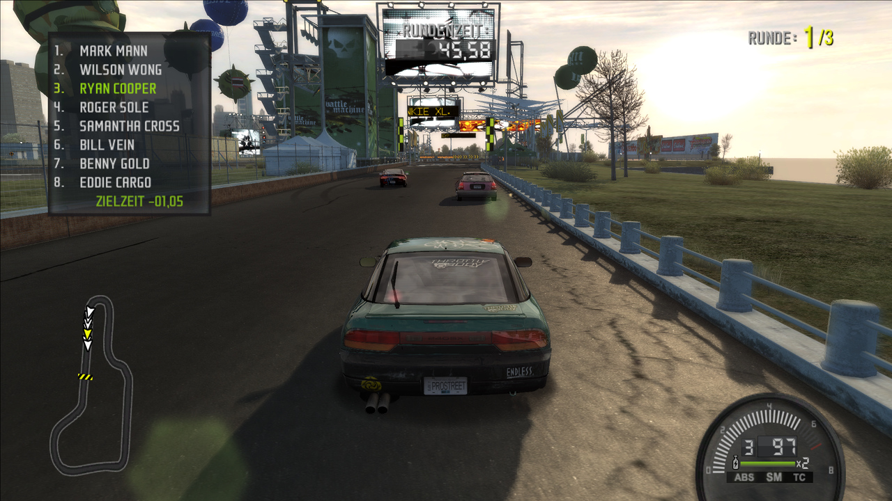 Nissan 240SX während Rundkursrennen